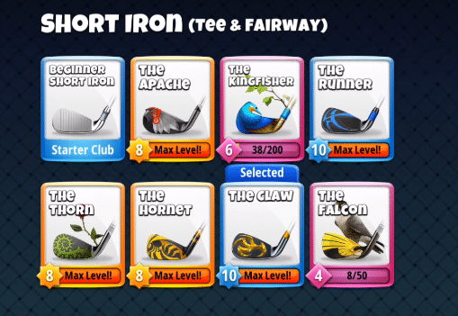 best short iron golf clash