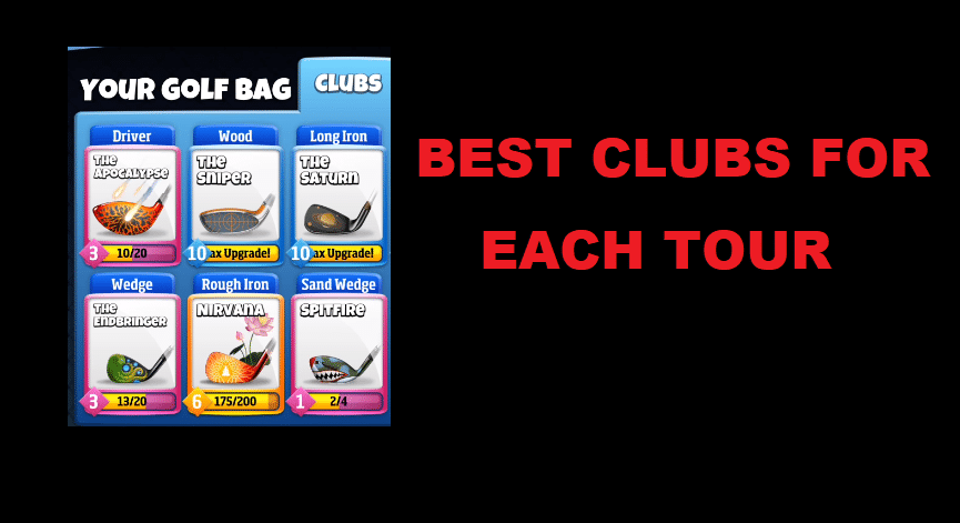 golf clash best clubs for each tour