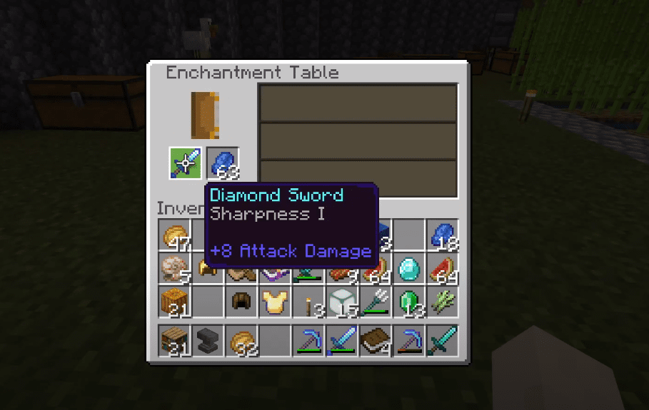 how to reset enchantment table minecraft