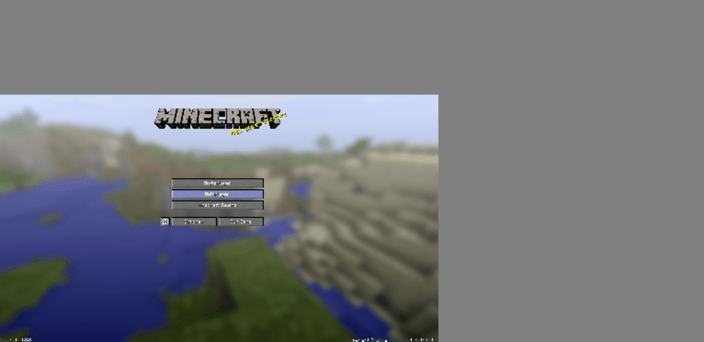 minecraft fullscreen off center