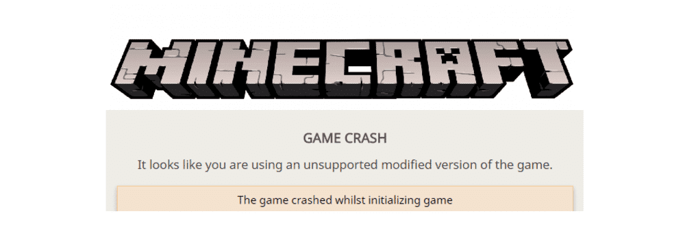 minecraft it looks like you are using an unsupported