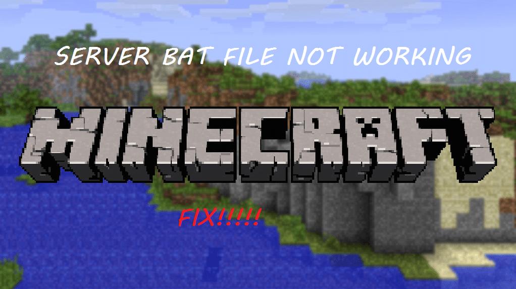 minecraft server bat file not working