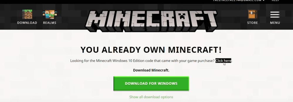 minecraft windows 10 code already redeemed