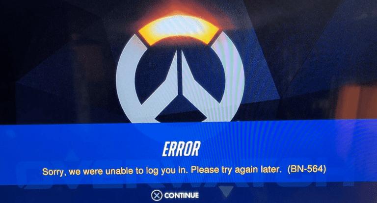 overwatch login error