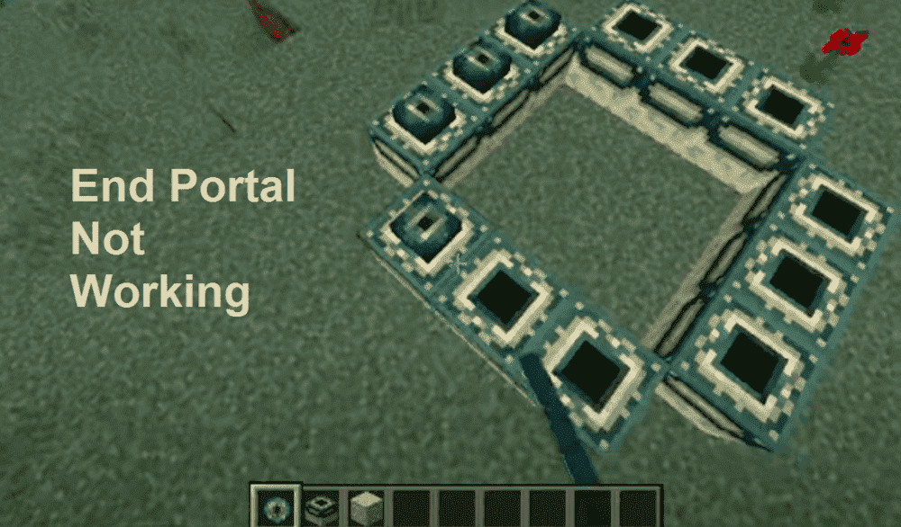 minecraft end portal not working