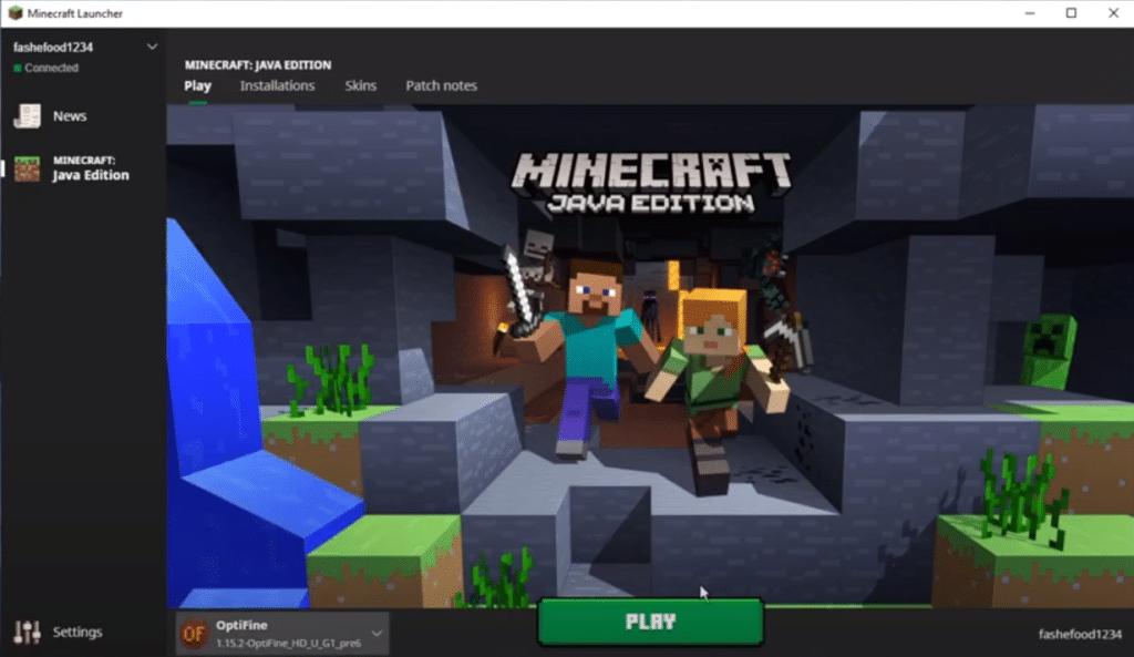 minecraft how to update optifine
