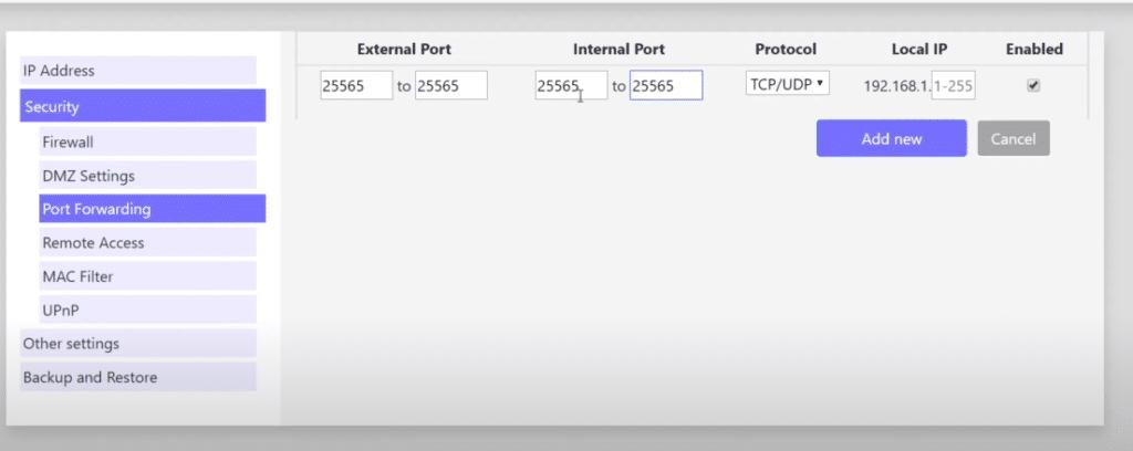 minecraft port forwarding not working