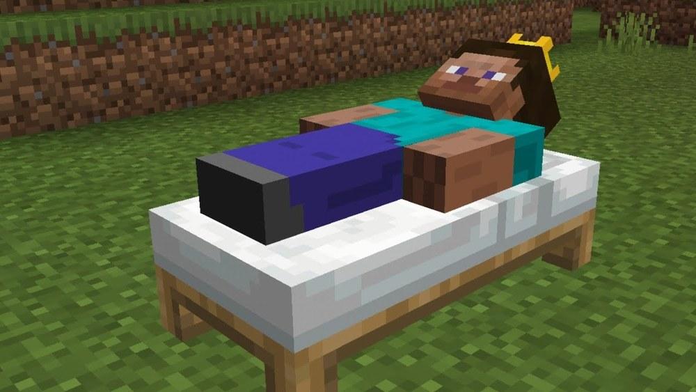 minecraft stuck in bed