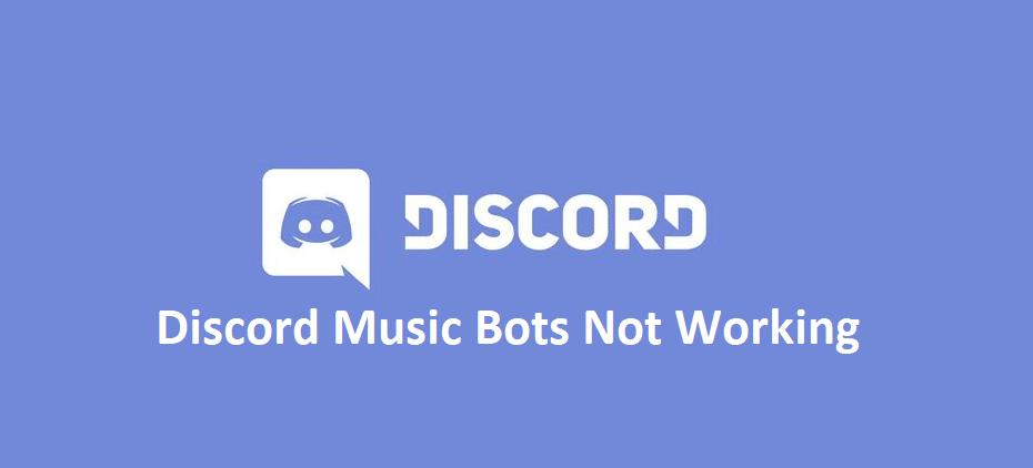 discord music bots not working