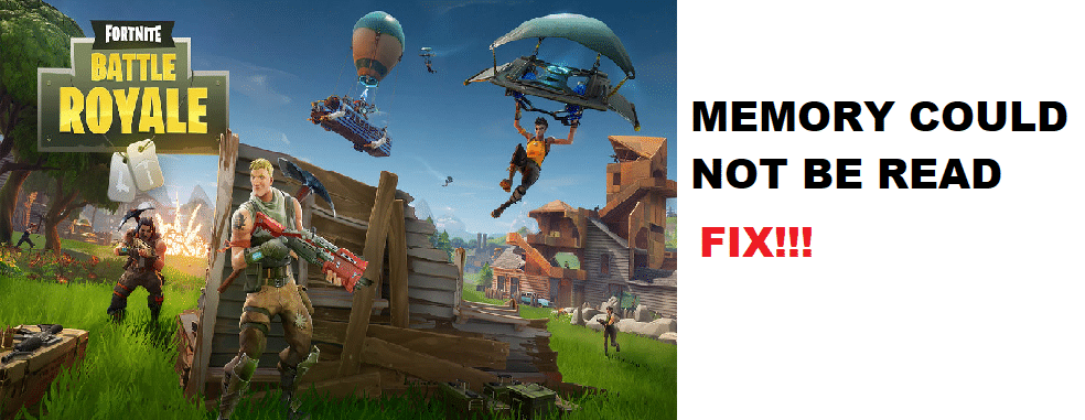 fortnite memory could not be read