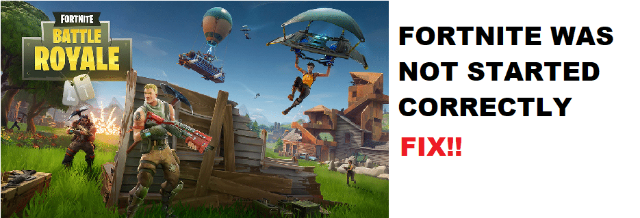 fortnite was not started correctly