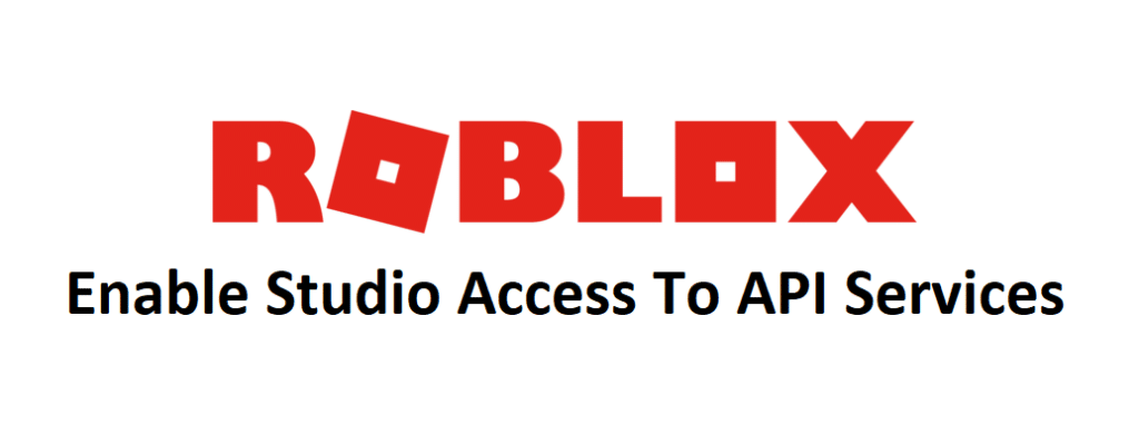 roblox enable studio access to api services