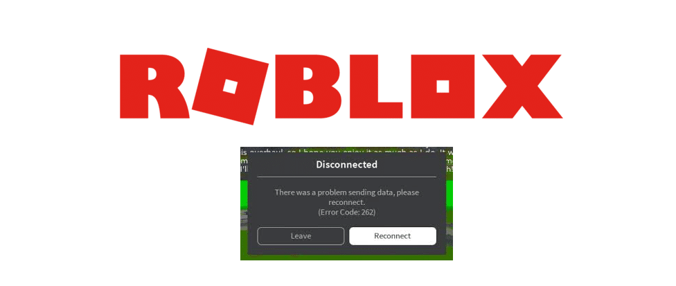 roblox error while sending data please reconnect
