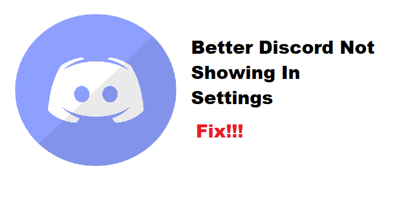 better discord not showing in settings