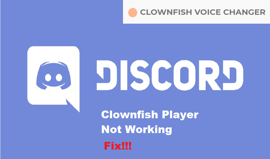 clownfish music player not working discord