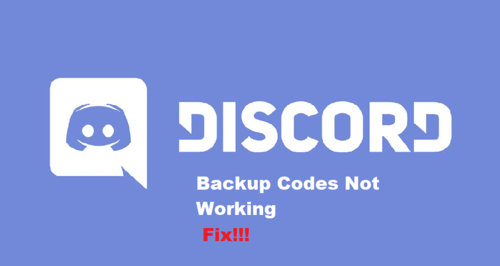 discord backup codes not working
