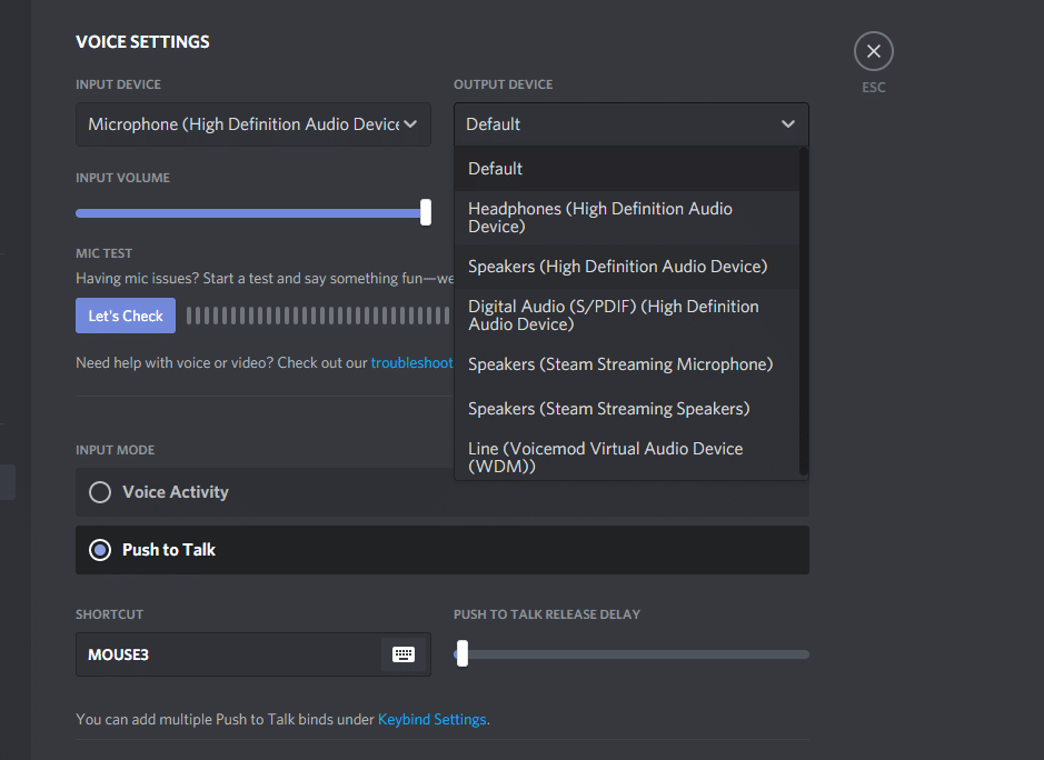 discord volume not working