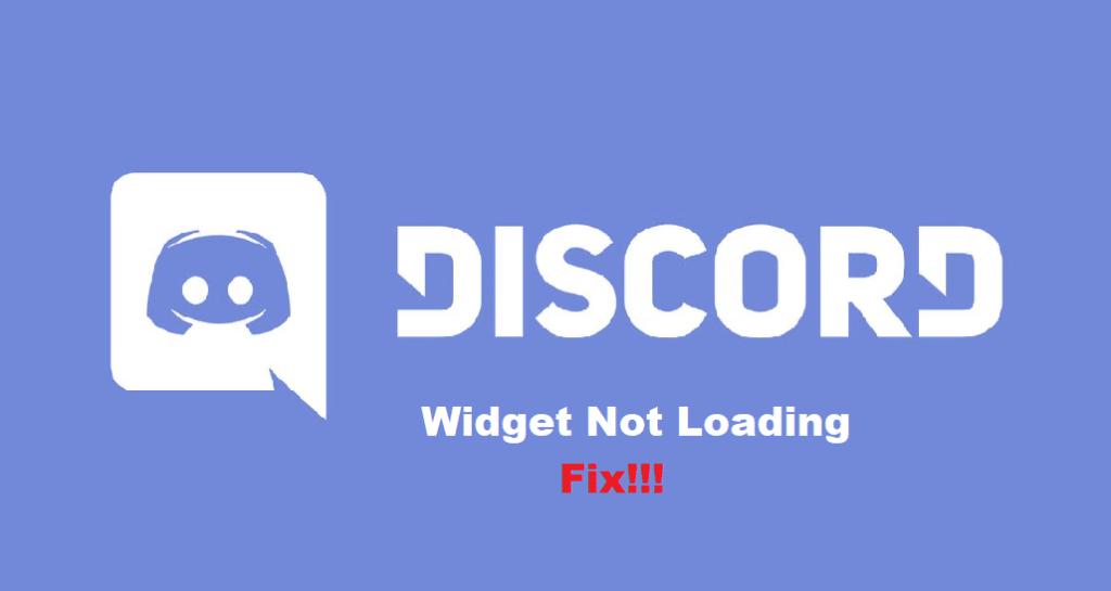 discord widget not loading