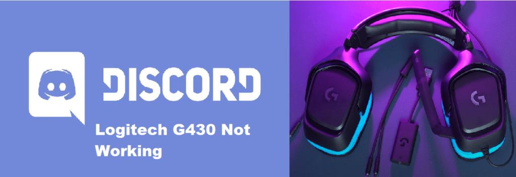 logitech g430 mic not working discord