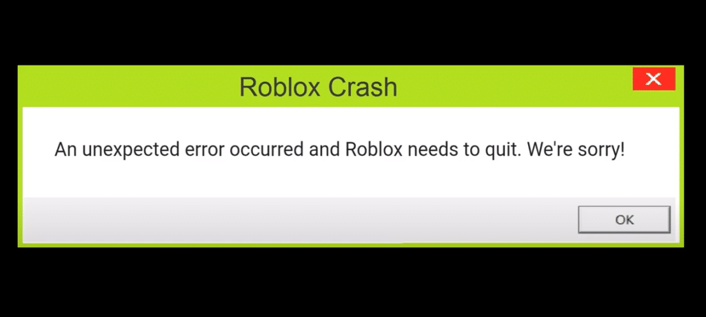 an unexpected error has occurred roblox