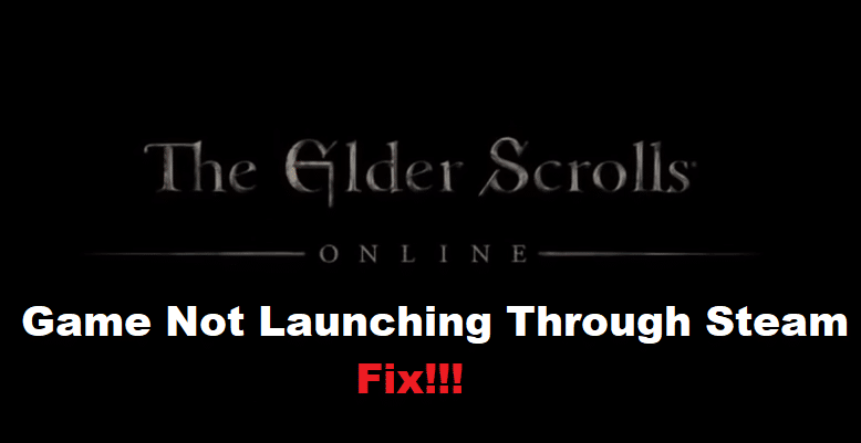 eso not launching on steam