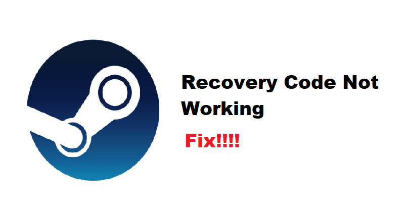 steam recovery code not working