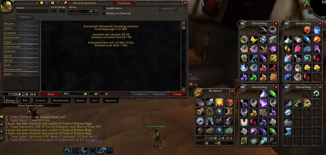 auctioneer not working WoW