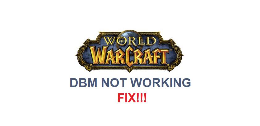 dbm not working wow