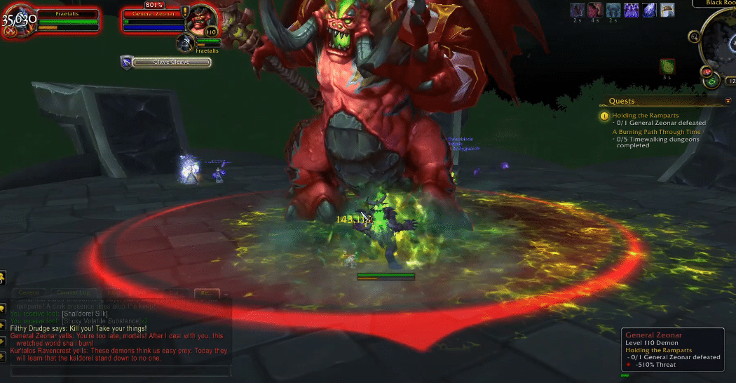 general zeonar not spawning WoW