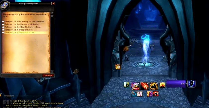 lich king teleport not working wow