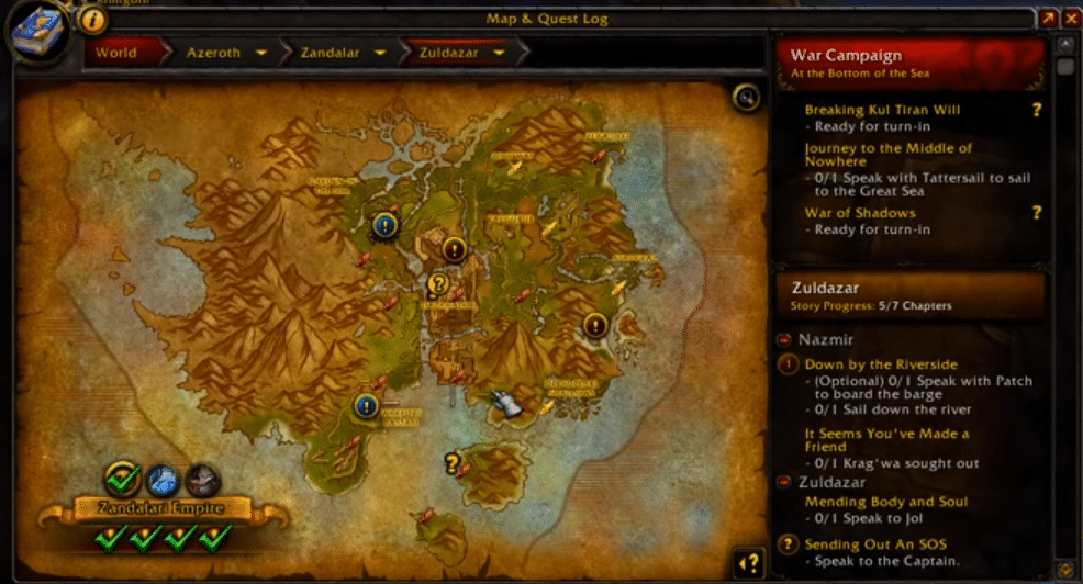when do world quests reset wow