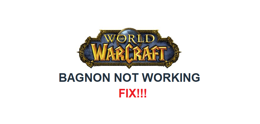 wow bagnon not working