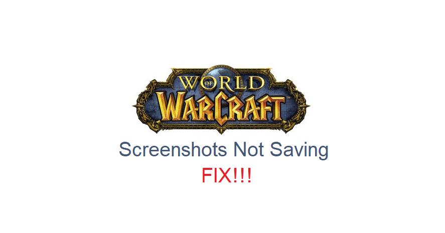 wow screenshots not saving