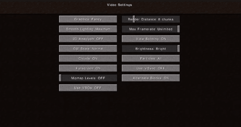 vbos on or off minecraft