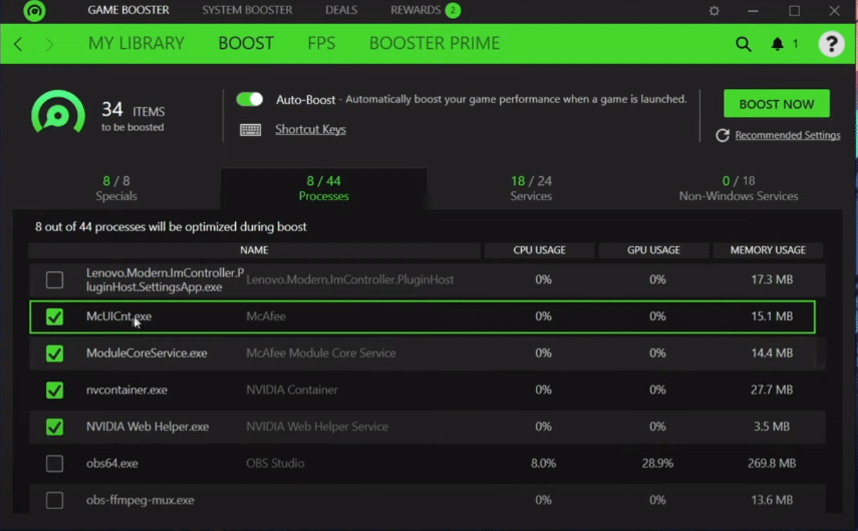 best razer cortex settings