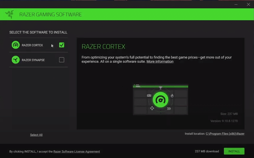 is razer cortex safe