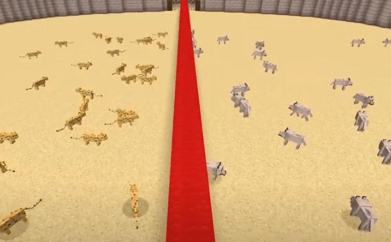 minecraft cats vs dogs
