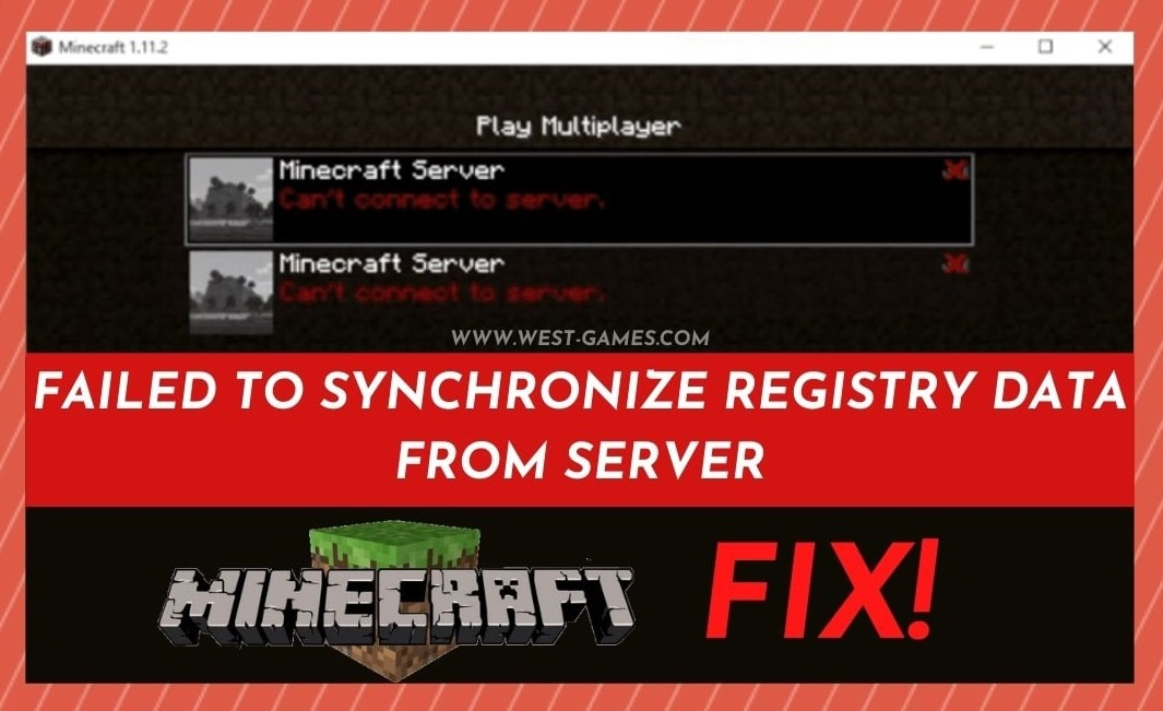 Failed To Synchronize Registry Data From Server Minecraft