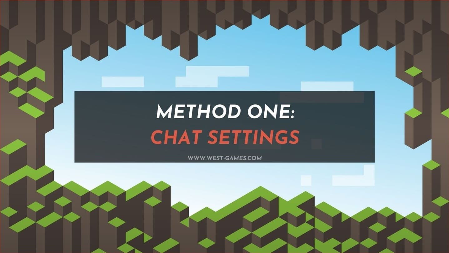 method one chat settings toggle off chat commands
